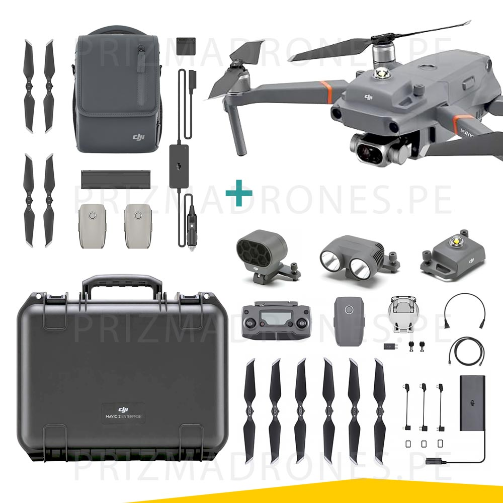 Mavic 2 Enterprise – Dual (Cámara Térmica + Visual) + Fly More Kit Enterprise